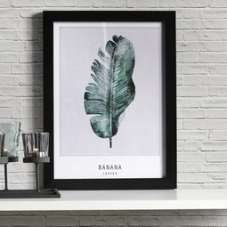 Bild Banana - Schwarz/Grün, MODERN, Kunststoff (30/40/1,7cm) - Mömax modern living