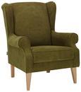 Fotelj Viola - naravna/zelena, tekstil (82/95/48/85cm) - Modern Living