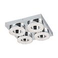 LED-Deckenleuchte max. 4 Watt 'Fradelo' - Klar/Chromfarben, MODERN, Glas/Kunststoff (28/28/6cm)