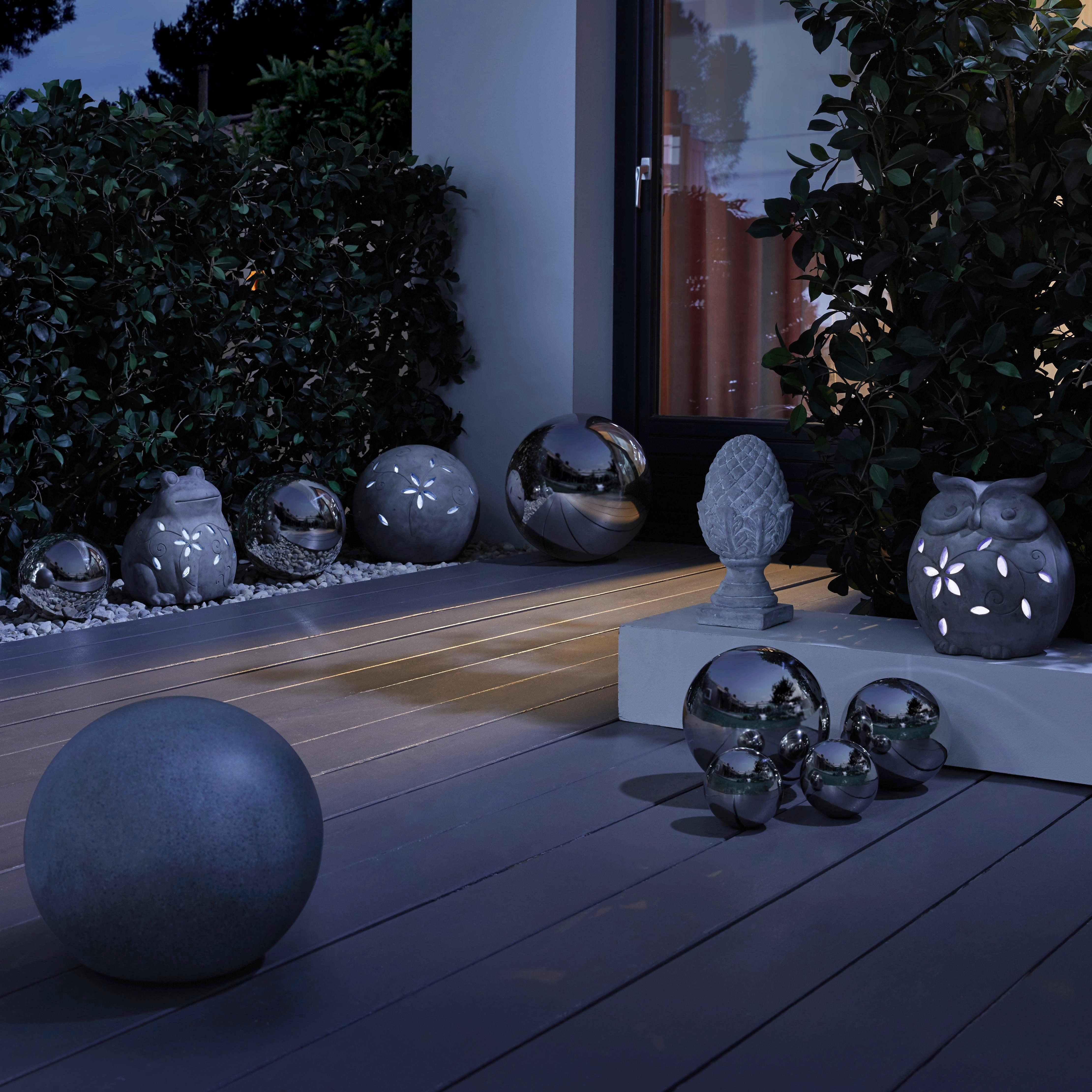 Dekokugel 20 cm Mia - Silberfarben, Metall (20cm) - MÖMAX modern living