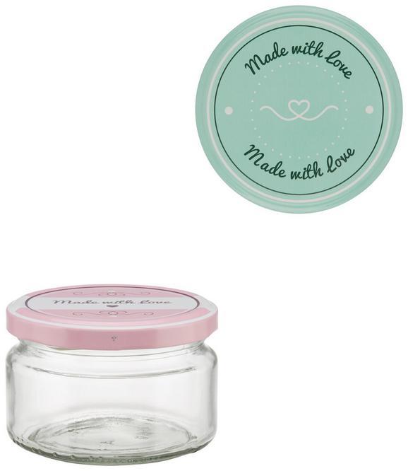 Einmachglas Rosie verschiedene Farben - Klar/Rosa, Glas (86cm)