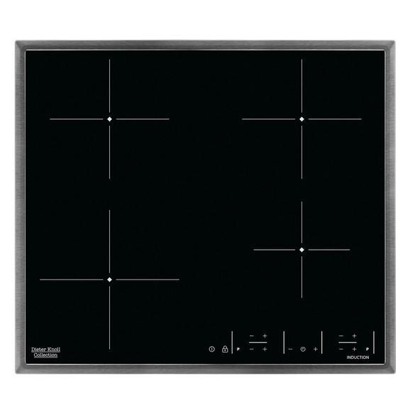 Induktionskochfeld DKEI6640XB - Edelstahlfarben/Schwarz, Basics, Glas/Metall (57,6/50,6/4,6cm) - Dieter Knoll