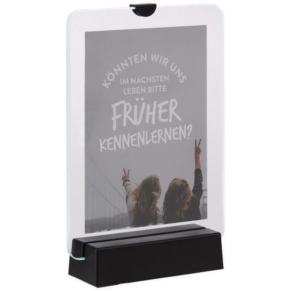 Bilderrahmen Sunny In Schwart inkl. Led - Schwarz, Glas/Kunststoff (21,4/14,6/4,5cm) - Mömax modern living