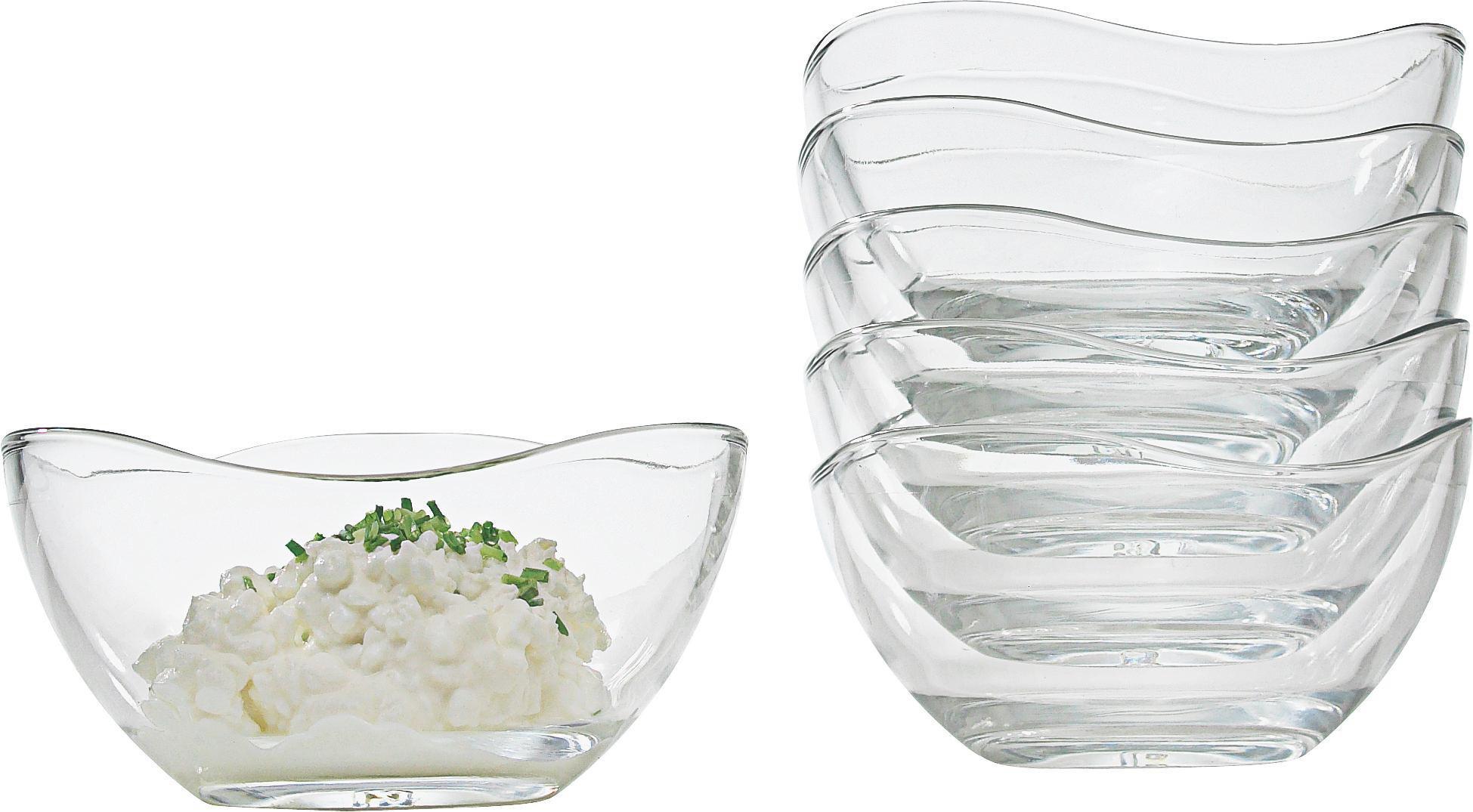 Üvegtál Szett Madeleine - tiszta, üveg (12/6cm) - MÖMAX modern living