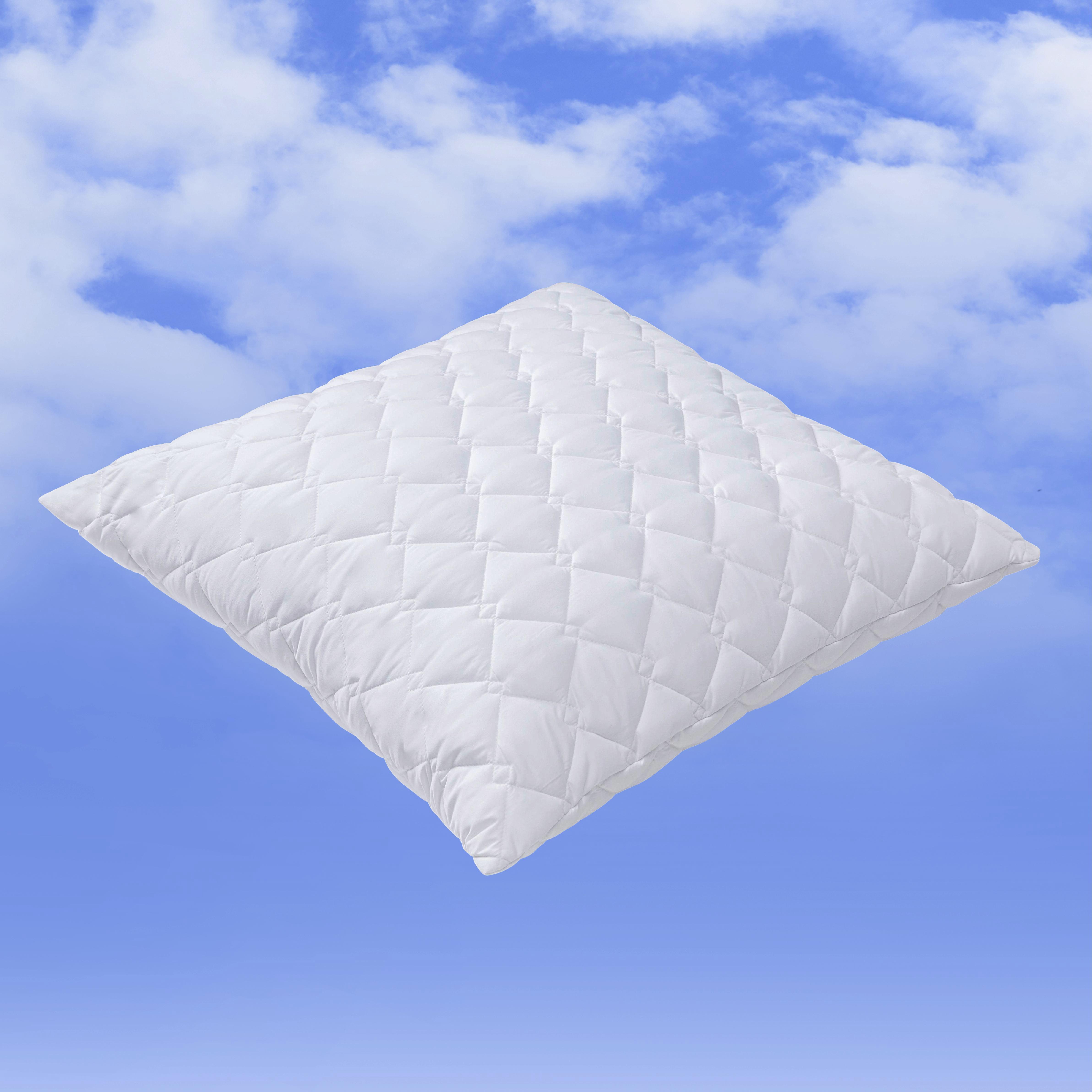 Kopfkissen Irisette 80x80cm - Weiß, KONVENTIONELL, Textil (80/80cm)