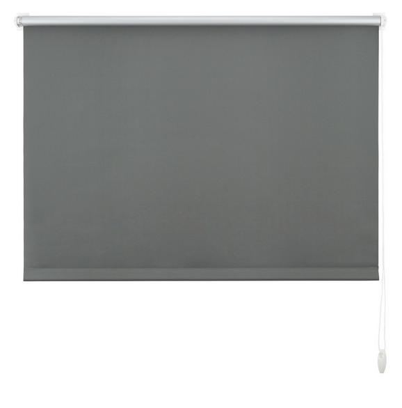 Klemmrollo Thermo, ca. 120x150cm - Schieferfarben, Textil (120/150cm) - premium living