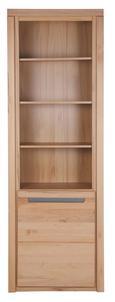 Regal in Kernbuche - Silberfarben, KONVENTIONELL, Holz/Holzwerkstoff (68/203/37cm) - Zandiara