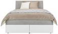 Stauraumbett Grau/Weiß 140x200cm - Weiß/Grau, KONVENTIONELL, Holzwerkstoff (147/100/220cm) - Modern Living