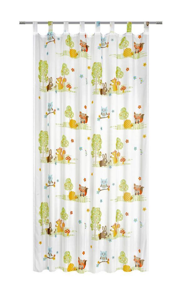 Schlaufenvorhang Sweety, ca.135x245cm - Gelb/Braun, Textil (135/245cm) - Mömax modern living