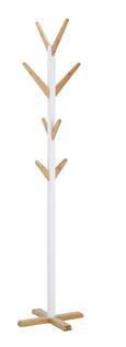 Kleiderständer Braun/Weiß Bambus - Braun/Weiß, LIFESTYLE, Holz/Holzwerkstoff (43/183/43cm) - Mömax modern living