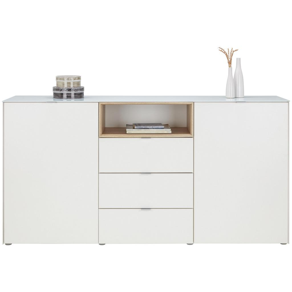 sideboard wei sonoma eiche ev kindertagesstaette hainholz. Black Bedroom Furniture Sets. Home Design Ideas