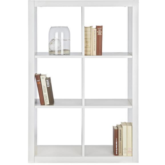 Raumteiler in Weiß mit 6 Fächer - Weiß, Basics, Holzwerkstoff (117,2/83,4/35cm) - Mömax modern living