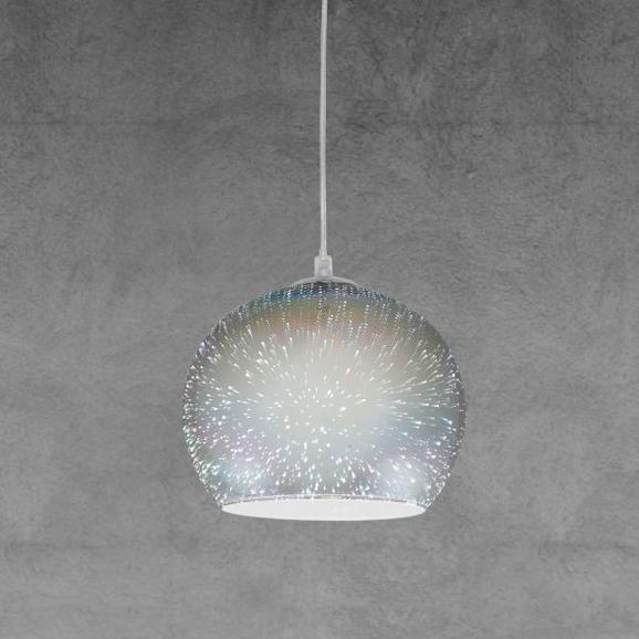 Hängeleuchte Stefano - Chromfarben, MODERN, Glas/Metall (25cm) - MODERN LIVING