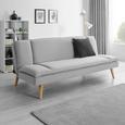 Schlafsofa Lorenzo - Grau, MODERN, Holz/Textil (180/83/93cm) - Modern Living