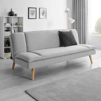 Sofa Lorenzo mit Schlaffunktion - Grau, MODERN, Holz/Textil (180/83/93cm) - Modern Living