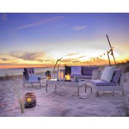 Lounge Garnitura Hallstatt - siva/črna, Moderno, kovina/umetna masa - Modern Living