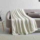 Hochwertige Kuscheldecke Elina 150x200 cm - Weiß, MODERN, Textil (150/200cm) - Mömax modern living
