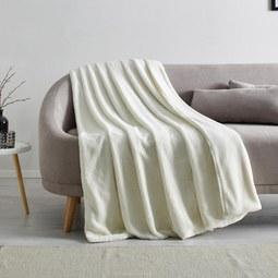 Kuscheldecke Elina 150x200 cm - Weiß, MODERN, Textil (150/200cm) - Mömax modern living