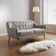 Sofa in Grau 'Anela' - Grau, MODERN, Holz/Textil (168/79/84cm) - Bessagi Home