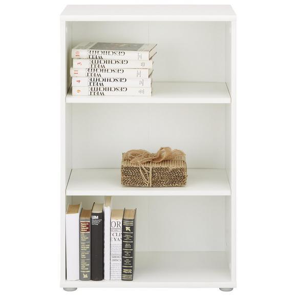Regal Weiß - Weiß/Grau, MODERN, Holzwerkstoff/Kunststoff (54/85/34cm)