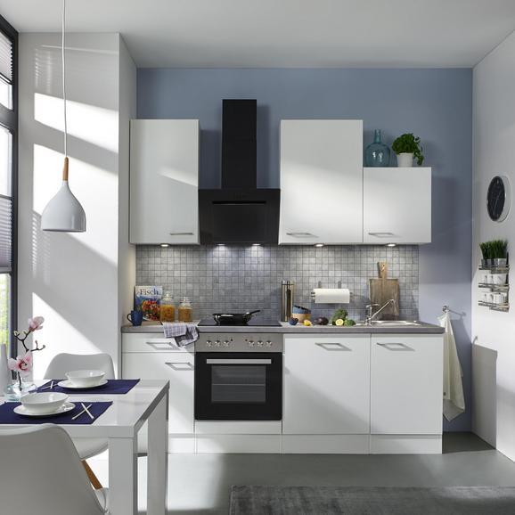 Küchenblock Neo Weiß/Betonoptik - Weiß, MODERN, Holzwerkstoff (220cm) - FlexWell.ai
