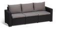 Loungegarnitur California inkl. Auflagen & Rückenkissen - Hellgrau/Graphitfarben, MODERN, Kunststoff (141/70/69cm) - ALLIBERT