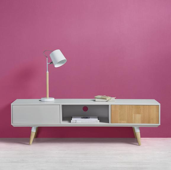 TV-möbel Evlyn - Hellgrau/Kieferfarben, MODERN, Holz/Metall (160/45/43cm) - Modern Living