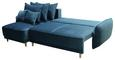 Funkcijska Sedežna Garnitura Rea - modra/bukev, Trendi, tekstil/les (235/155cm) - Zandiara