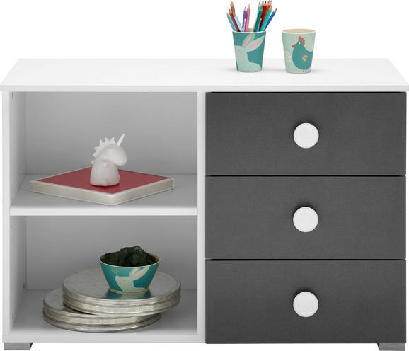 Regalelement Grau/Weiß - Alufarben, KONVENTIONELL, Holzwerkstoff/Kunststoff (93/62/42cm) - Modern Living