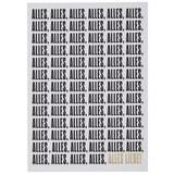 Postkarte Alles alles Liebe - Goldfarben/Schwarz, MODERN, Papier (10,5/14,8cm)