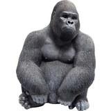 Dekotier Gorilla Schwarz - Schwarz, Trend, Kunststoff (30/38,5/28cm) - Modern Living