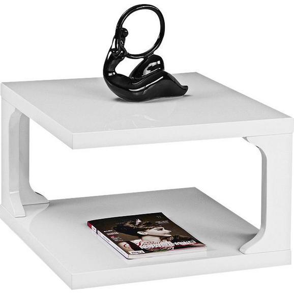 Couchtisch in Weiß Hochglanz - Weiß, MODERN, Holzwerkstoff (59/38/59cm) - Modern Living