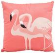 Zierkissen Flamingo Couple ca. 45x45cm - Pink, Textil (45) - Mömax modern living