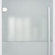 UNTERSCHRANK Weiß/Glas 'Basic' - Silberfarben/Weiß, MODERN, Glas/Holz (44/84/35cm) - Bessagi Home