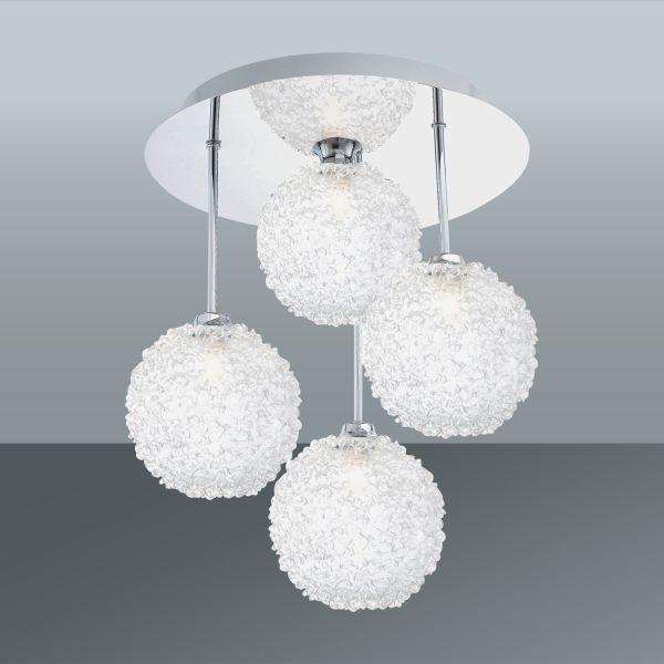 Mennyezeti Lámpa Ella - modern, üveg/fém (30/33cm)