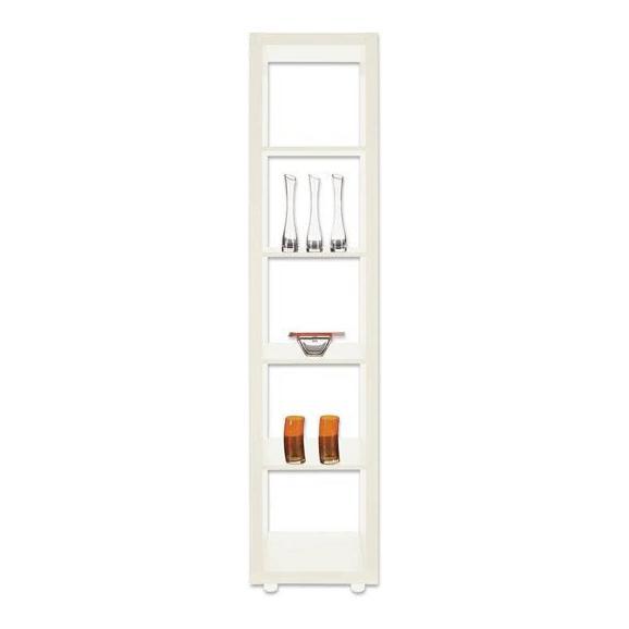Predelna Stena Aron - bela/srebrna, umetna masa/leseni material (44/191/35cm) - Mömax modern living