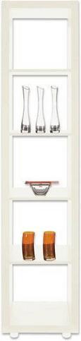 Raumteiler Weiß Lackiert - Silberfarben/Weiß, Basics, Holzwerkstoff/Kunststoff (44/191/35cm) - MÖMAX modern living