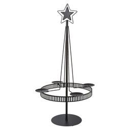 Kerzenhalter Stella aus Metall in Schwarz - Schwarz, Basics, Metall (49/90cm)