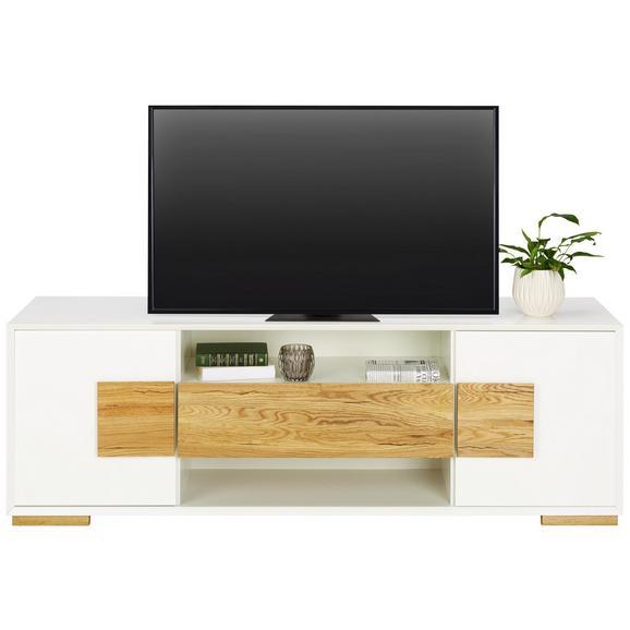 Lowboard in Eiche - Eichefarben/Weiß, MODERN, Holz/Holzwerkstoff (161/54/40cm) - Modern Living