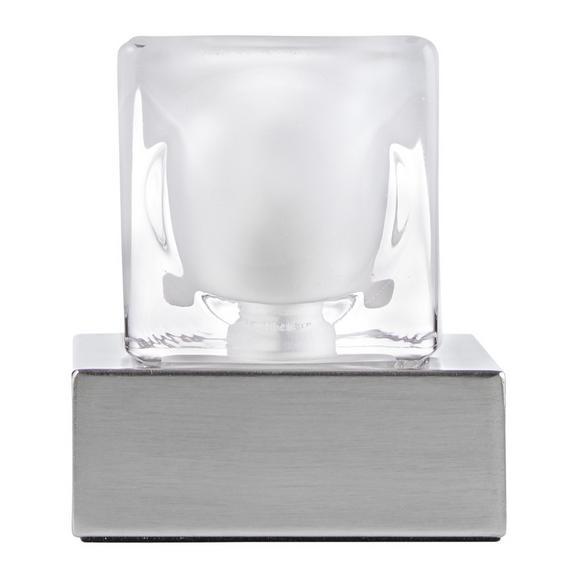 Namizna Svetilka Justus - srebrna, Basics, kovina/steklo (9/9/10,5cm)