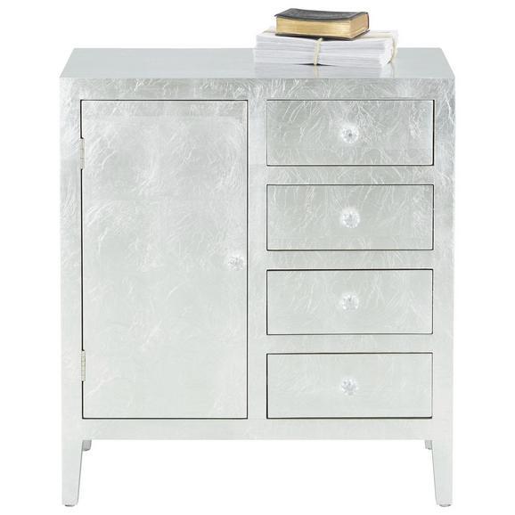 Komód Silver - Trend- - Ezüst, Lifestyle, Faalapú anyag/Műanyag (71,5/64/30cm)