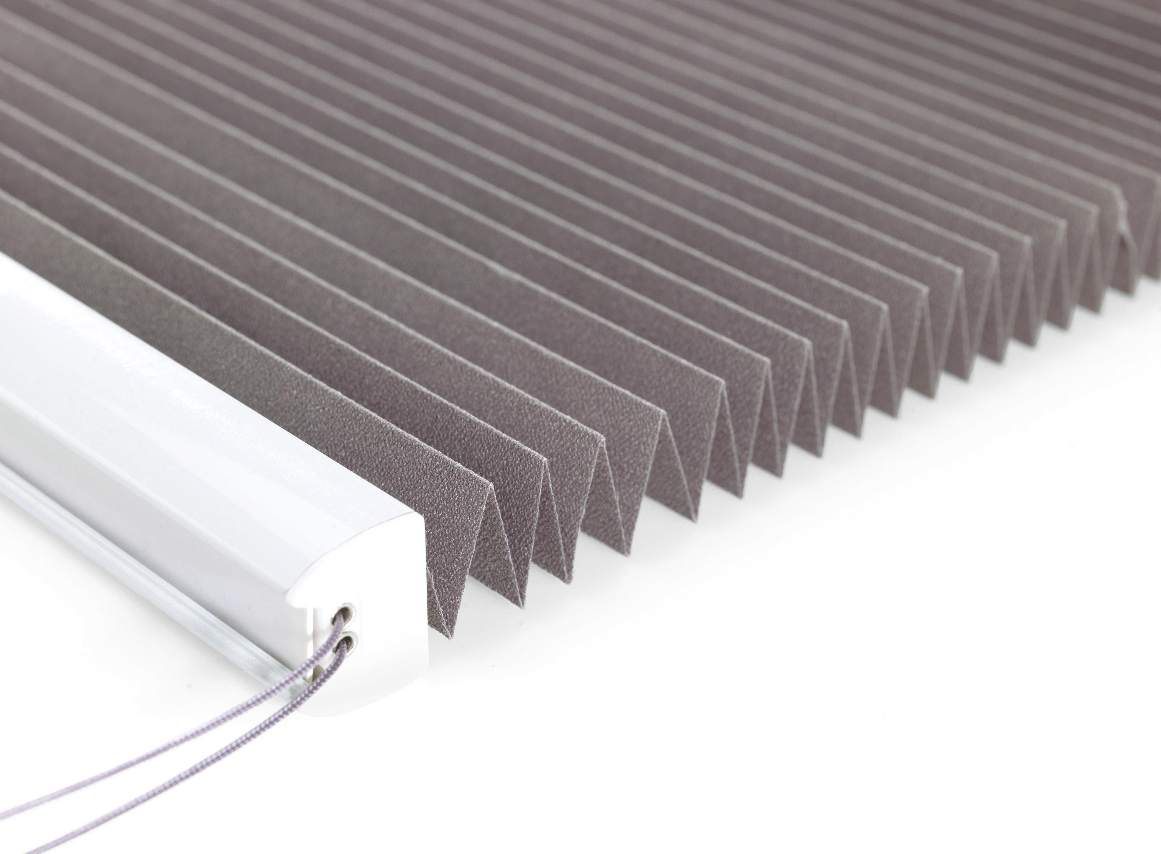 Plissee Free in Grau, ca. 100x130cm - Anthrazit, Textil (100/130cm) - MÖMAX modern living