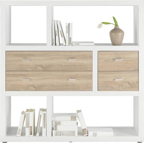 Predelna Stena Space - aluminij/bela, Moderno, umetna masa/leseni material (123/124,5/35cm)