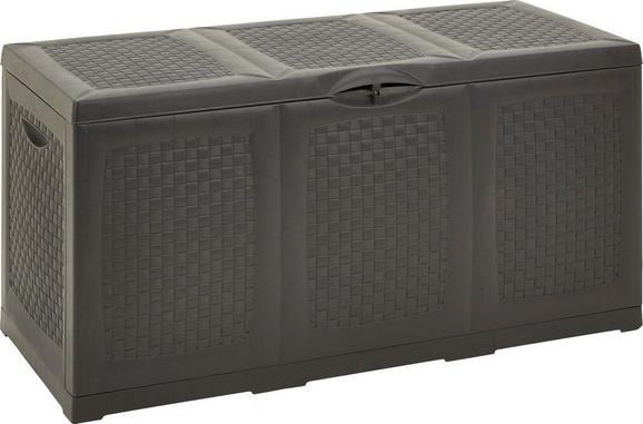 Zaboj Za Blazine Hippo - antracit/svetlo siva, umetna masa (120/60/52cm) - Mömax modern living