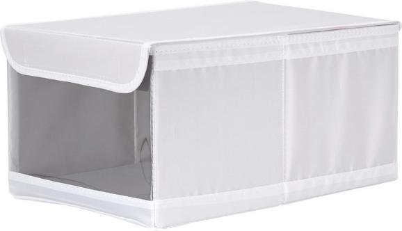 Aufbewahrungsbox Kläck in Weiß mit Deckel - Weiß, MODERN, Kunststoff (34/22/16cm) - MÖMAX modern living