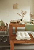 Okrasna Blazina Laguna - zlata/svetlo zelena, tekstil (40/50cm) - Mömax modern living