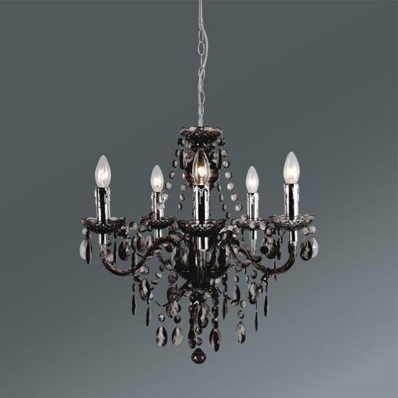 Viseča Svetilka Isabella - sivo rjava/krom, Romantika, kovina/umetna masa (149cm) - Mömax modern living