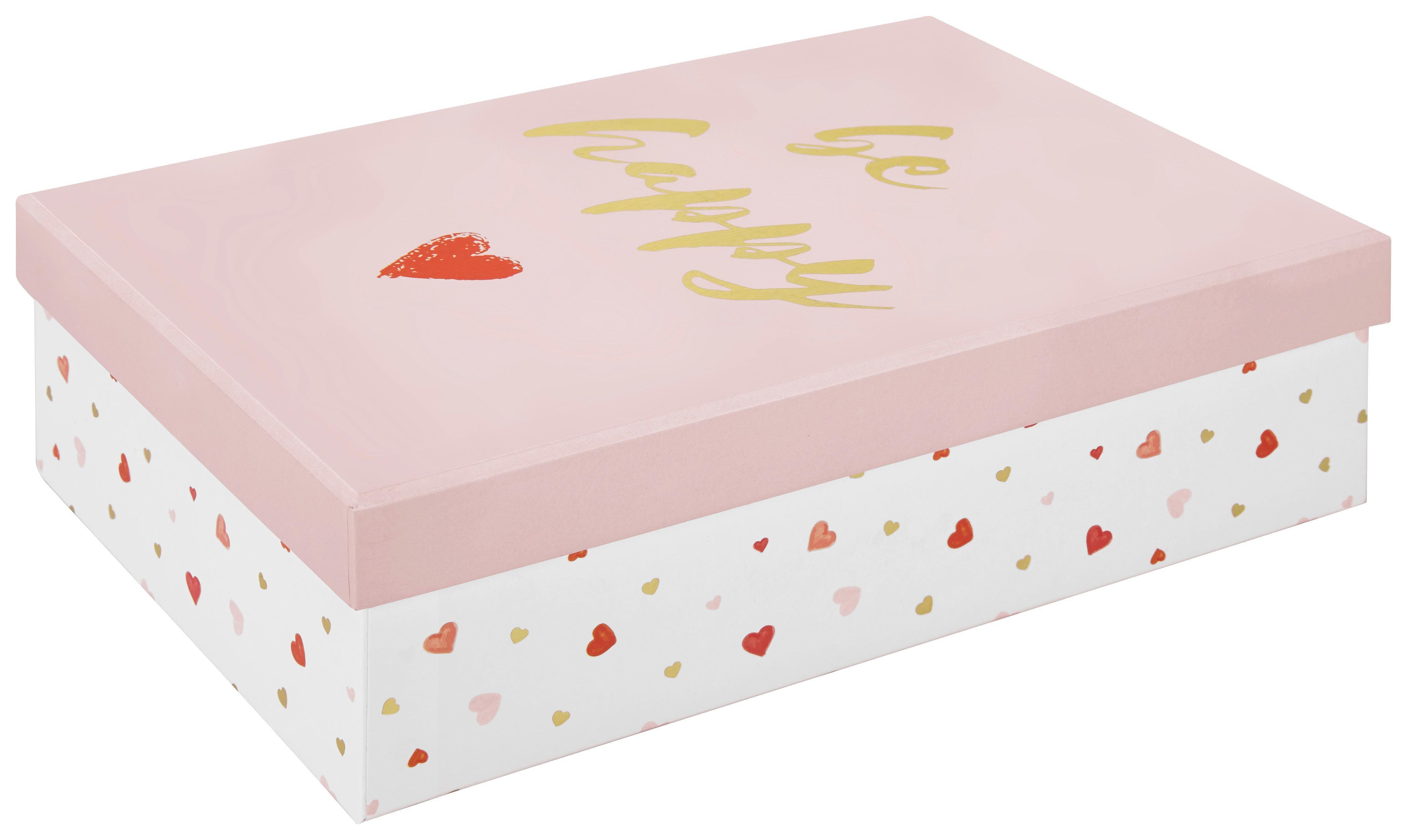 Geschenkbox Dreams in Rosa aus Karton - Rosa, Karton (24/7/16cm) - MÖMAX modern living