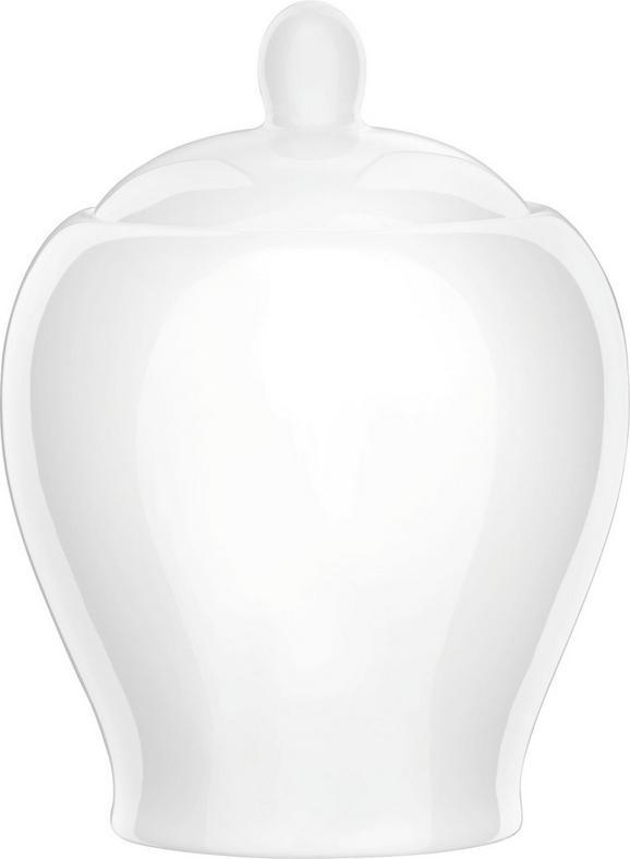 zuckerdose Bonnie Weiß - Weiß, MODERN, Keramik (0,35l) - Mömax modern living