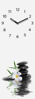 Stenska Ura Silent Water Stones - črna/bela, Moderno, kovina/steklo (20/60/3,5cm) - Mömax modern living